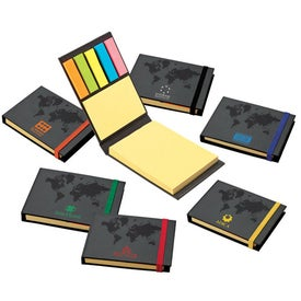 Company World Design Sticky Notes Book