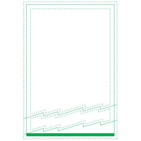 "Zig-Zag Beveled Adhesive Sticky Note Pads (4"" x 6"")"