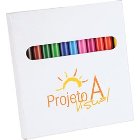 12 Piece Colored Pencil Set In White Box