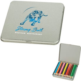 12 Piece Colored Pencil Tins