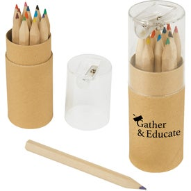 12 Piece Colored Pencils Tubes with Sharpener