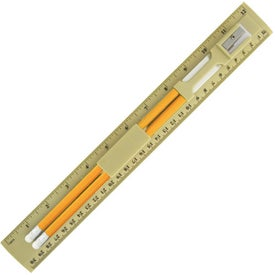 Monogrammed BioGreen Pencil and Ruler Set