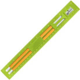 Custom BioGreen Pencil and Ruler Set