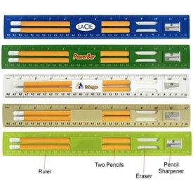 Printed BioGreen Pencil and Ruler Set