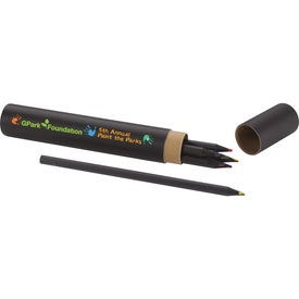 Black 7-Piece Tall Colored Pencil Set