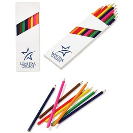 "Eight-Color 7"" Wooden Pencil Set in White Box"