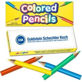 Mini Pre-Sharpened Colored Pencil Box (4 Count)