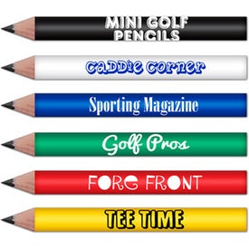 "Mini Round Golf Pencil (3.5"")"