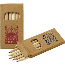 Six Color Wooden Pencil Set in Box