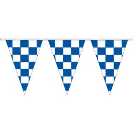 Blue and White Checkered Pennant Strings