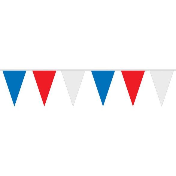 Red / White / Blue Red White and Blue Pennant String
