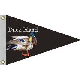 Single Reverse Knit Polyester Pennants (24