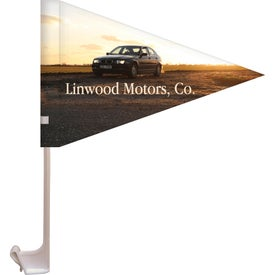 Single Reverse Pennant Style Car Flags (10.5