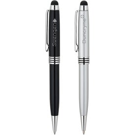 Promotional 2 in 1 Ballpoint Pen and Stylus