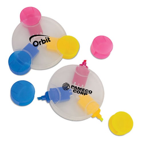 3 Color Round Highlighter