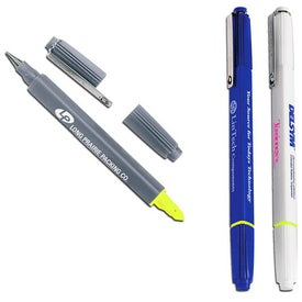 3D Ballpoint & Highlighter Combo with Your Slogan
