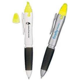 Monogrammed 3 in 1 Pen Pencil Highlighter