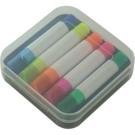 Set Of 5 Wax Highlighters Printed with Your Logo