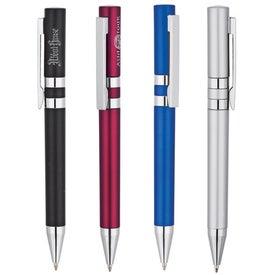 Twin Silver Rings Ballpoint Pen