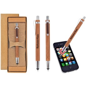 Bamboo Pen and Stylus with Your Logo