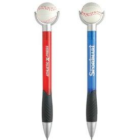 Baseball Stress Ball Pen for Marketing