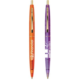 BIC Clear Clics Gold Pen