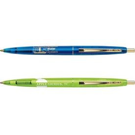 Imprinted BIC Clear Clics Gold Pen
