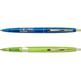 Imprinted BIC Clear Clics Gold Pen