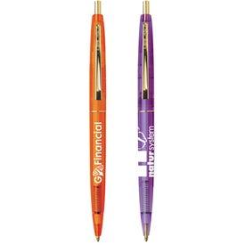 BIC Clear Clics Gold Pen