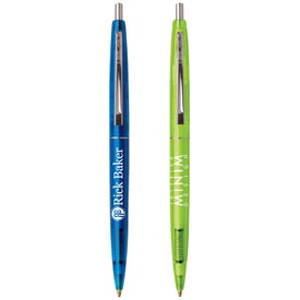 Personalized BIC Clear Clics Pen