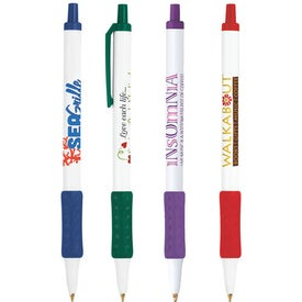 Bic Clic Stic Grip Pen Imprinted with Your Logo