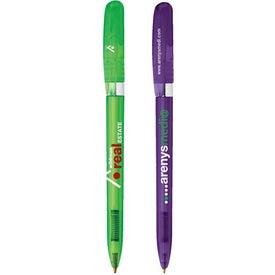 Custom Bic Pivo Clear Chrome Pen