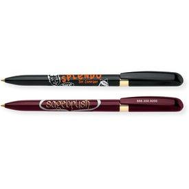 Branded Bic Pivo Chrome Pen