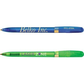 BIC Pivo Clear Gold Pen Imprinted with Your Logo