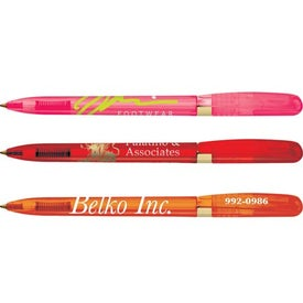 Promotional BIC Pivo Clear Gold Pen