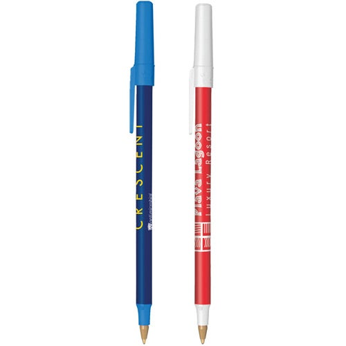 BIC Round Stic Antimicrobial Pen with Sleeve