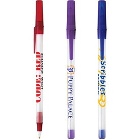 Bic Round Stic Ice Pen Branded with Your Logo