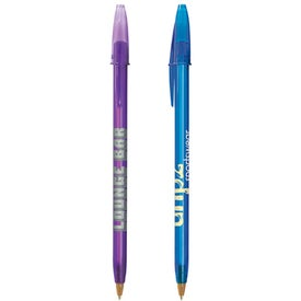 Imprinted BIC Style Clear Pen
