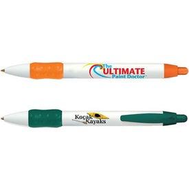 Printed Bic WideBody Color Grip Pen