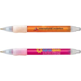 Printed Bic WideBody Clear Pen with Ice Trim