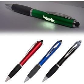 Budget LED Light Up Your Logo Stylus Pen