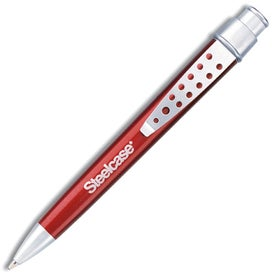 Promotional Calypso Ballpoint Pen with Satin Silver Trim