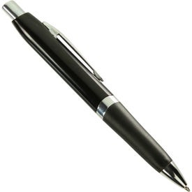 Metal Ball Point Pen With Chrome Accents
