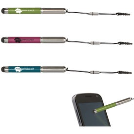 Compact Touch Screen Stylus with Pen Giveaways