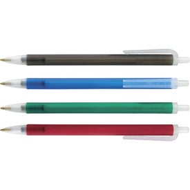 Contender Frosted Pen Imprinted with Your Logo