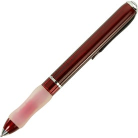 Branded Metal Ball Point Pen With Contoured Grip