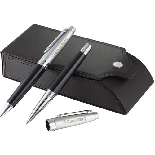 Black / Silver Cutter and Buck Legacy Pen Set