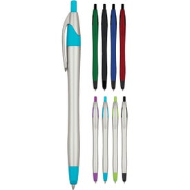 Dart Pen With Stylus (Metallic or Silver)