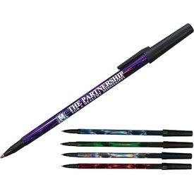 Deep Swirl Foil Stick Pen