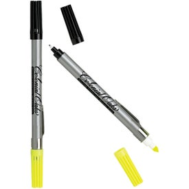 Double Header Nylon Point Pen & Highlighter